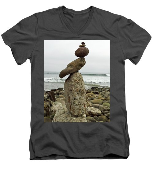 Bird Rock Art Men's V-Neck T-Shirt by Joe  Palermo