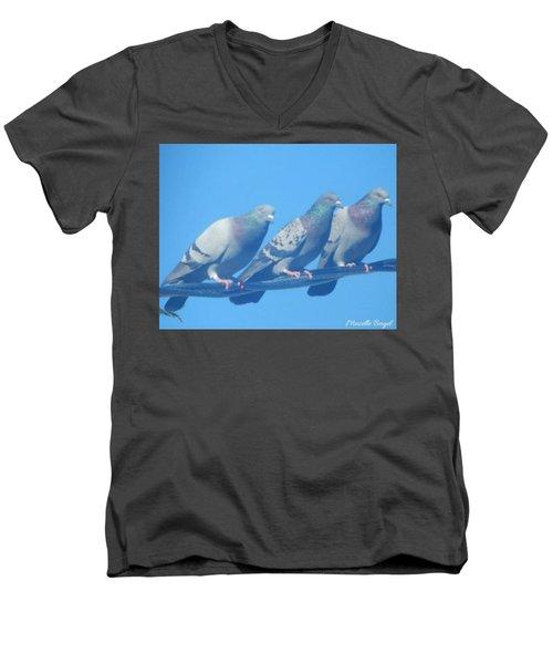Bird Trio Men's V-Neck T-Shirt