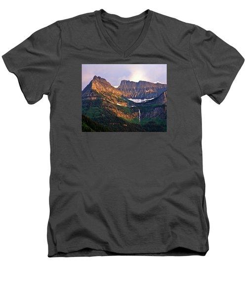 Bird Woman Falls Sunset Men's V-Neck T-Shirt