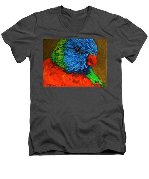 Birdie Birdie Men's V-Neck T-Shirt by Alison Caltrider