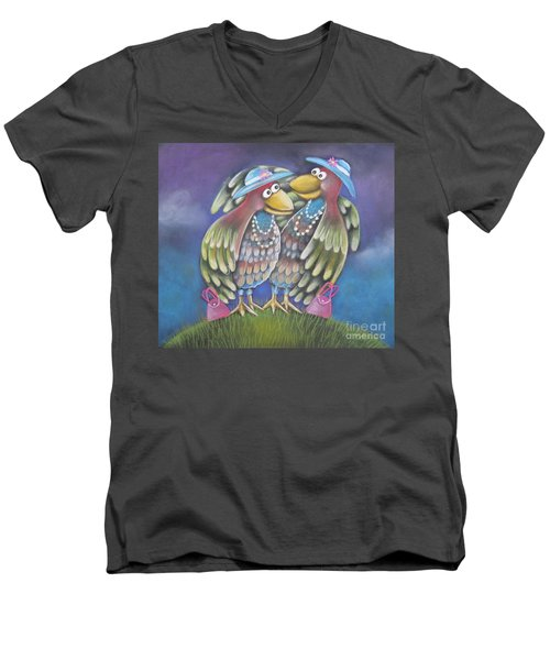 Birds Of A Feather Stick Together Men's V-Neck T-Shirt