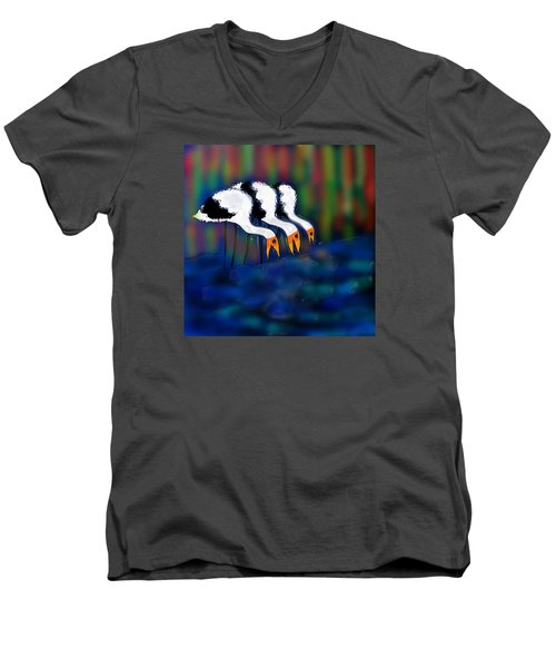Men's V-Neck T-Shirt featuring the digital art Birds Of Same Feather by Latha Gokuldas Panicker