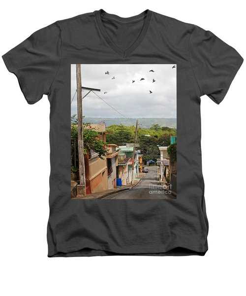 Birds Over Yabucoa Men's V-Neck T-Shirt