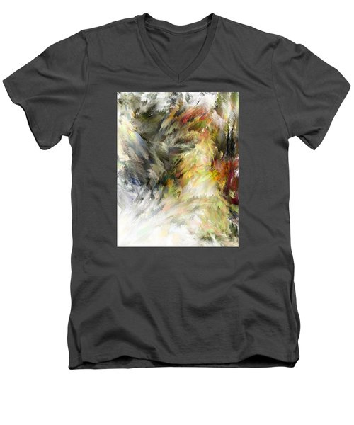 Birth Of Feathers Men's V-Neck T-Shirt by Dale Stillman