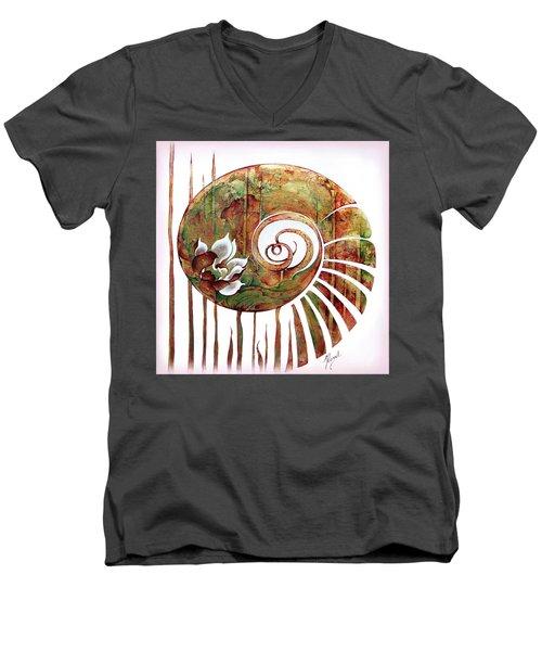 Birth Of Lotus Land Men's V-Neck T-Shirt by Anna Ewa Miarczynska