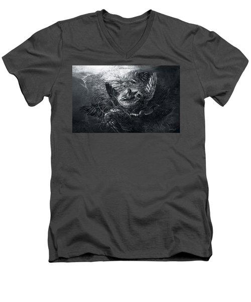 Birth Of Pegasus Men's V-Neck T-Shirt