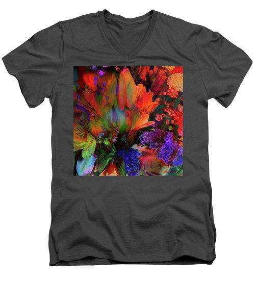 Birthday Flowers Men's V-Neck T-Shirt