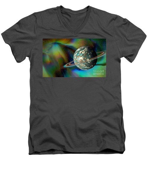 Birthing Planet Men's V-Neck T-Shirt by Curtis Koontz