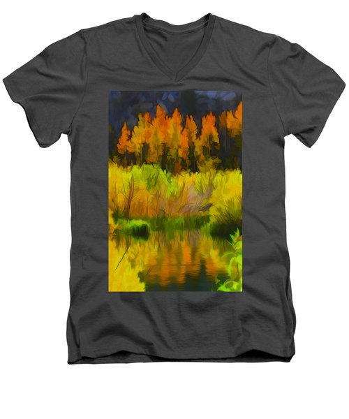 Bishop Creek Aspens Men's V-Neck T-Shirt