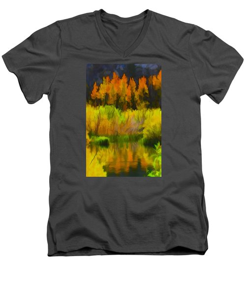 Bishop Creek Aspens Men's V-Neck T-Shirt