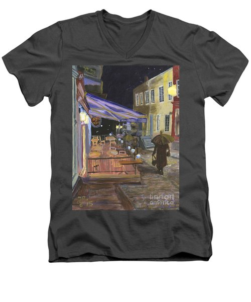 Bistro Sous Le Fort Men's V-Neck T-Shirt