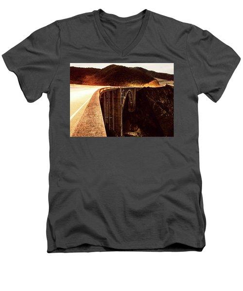 Bixby Creek Bridge, California Men's V-Neck T-Shirt