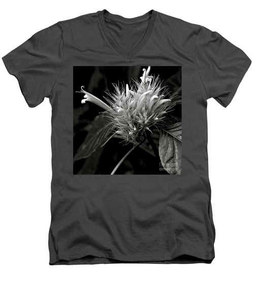 Bizarre Flower Charm Men's V-Neck T-Shirt