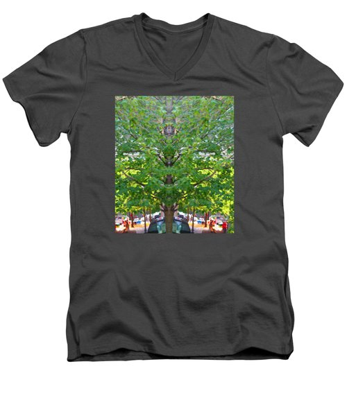 Bizarre Fun Tree Men's V-Neck T-Shirt