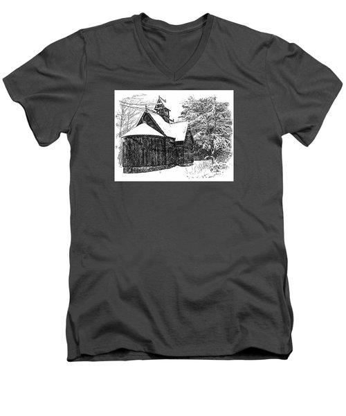 Boynton Chapel Men's V-Neck T-Shirt by Jim Rossol
