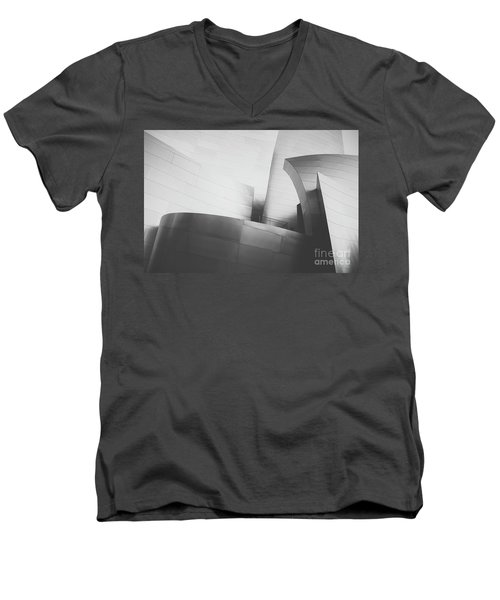 Men's V-Neck T-Shirt featuring the photograph Black And White Arcitechture by MGL Meiklejohn Graphics Licensing