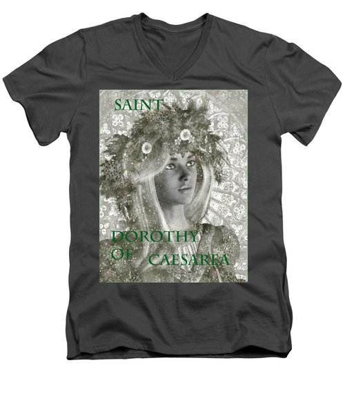 Black And White Saint Dorothy Men's V-Neck T-Shirt by Suzanne Silvir