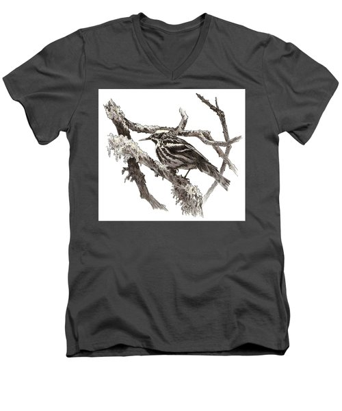 Black-and-white Warbler Men's V-Neck T-Shirt