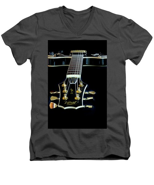Men's V-Neck T-Shirt featuring the photograph Black Beauty by Bill Gallagher