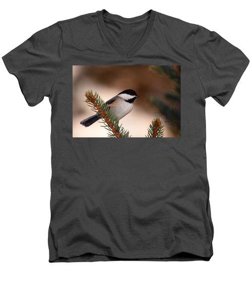 Black-capped Cickadee II Men's V-Neck T-Shirt
