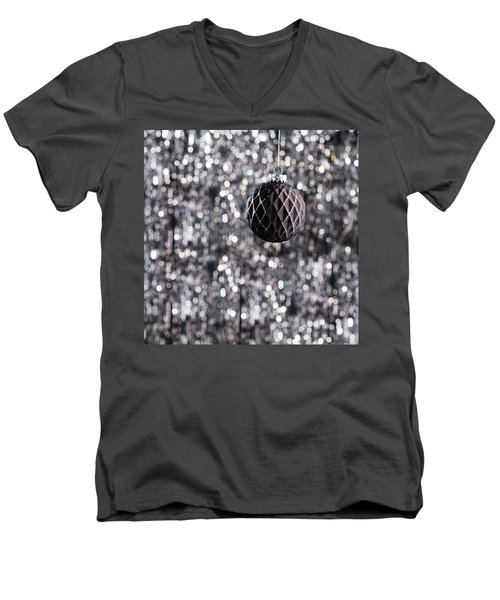 Men's V-Neck T-Shirt featuring the photograph Black Christmas by Ulrich Schade