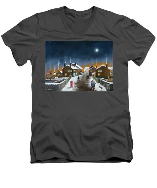 Black Country Winter Men's V-Neck T-Shirt