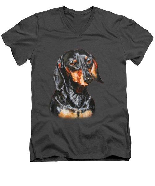 Black Dachshund Accessories Men's V-Neck T-Shirt