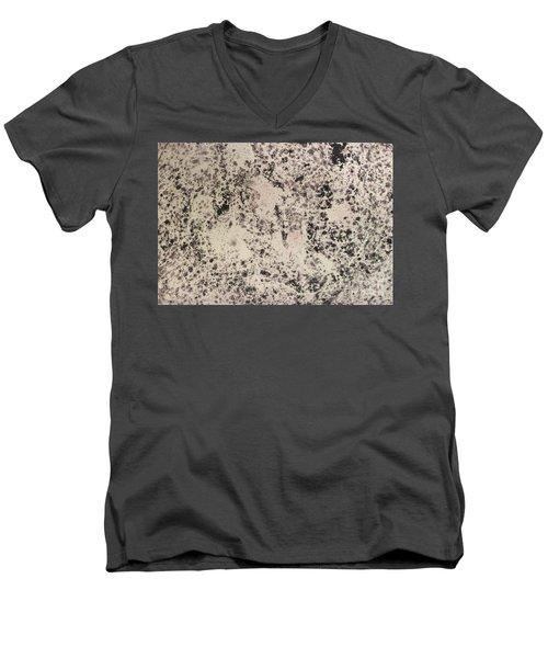 Black Ecru Men's V-Neck T-Shirt