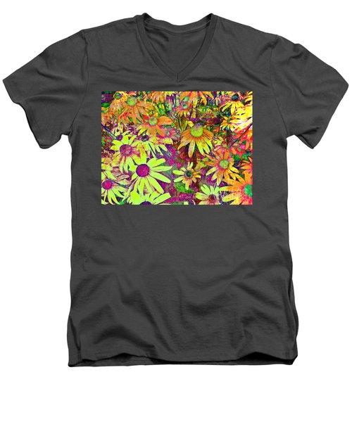 Black-eyed Susan   Abstract  Men's V-Neck T-Shirt