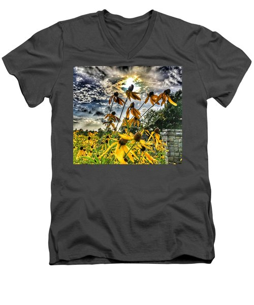 Men's V-Neck T-Shirt featuring the photograph Black Eyed Susan by Sumoflam Photography