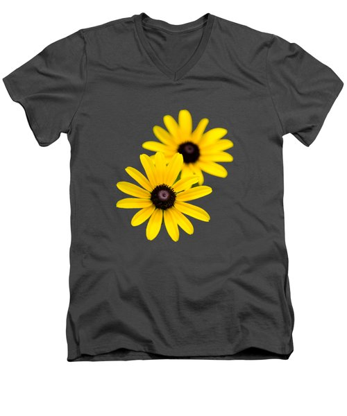 Black Eyed Susans Men's V-Neck T-Shirt by Christina Rollo
