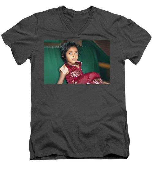 Black Eyes Men's V-Neck T-Shirt