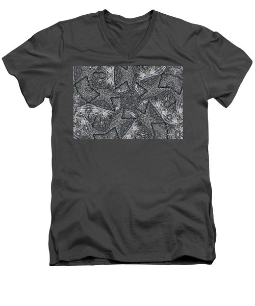 Black Granite Kaleido #4 Men's V-Neck T-Shirt