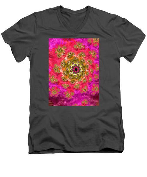 Men's V-Neck T-Shirt featuring the photograph Black Hole Dresses For Bollywood by Ronda Broatch