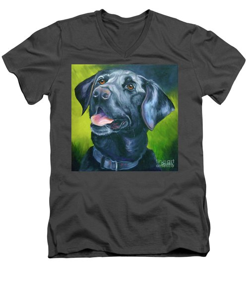 Black Lab Forever Men's V-Neck T-Shirt