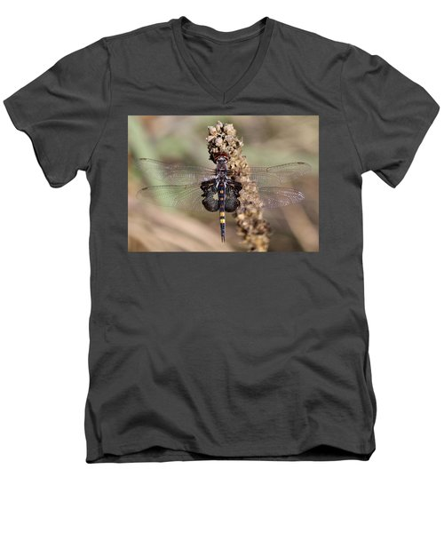 Black Saddlebags Men's V-Neck T-Shirt