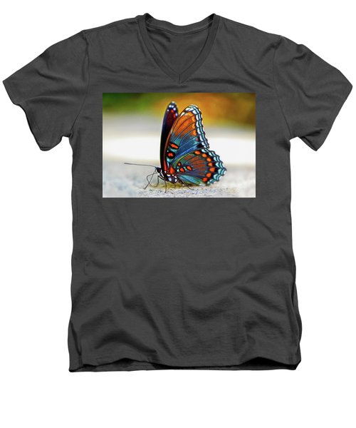 Black Swallowtail Butterfly 003 Men's V-Neck T-Shirt