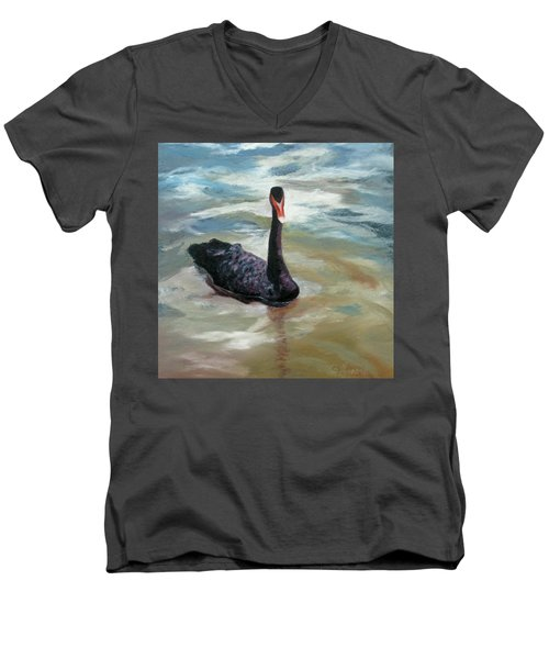Black Swan Men's V-Neck T-Shirt