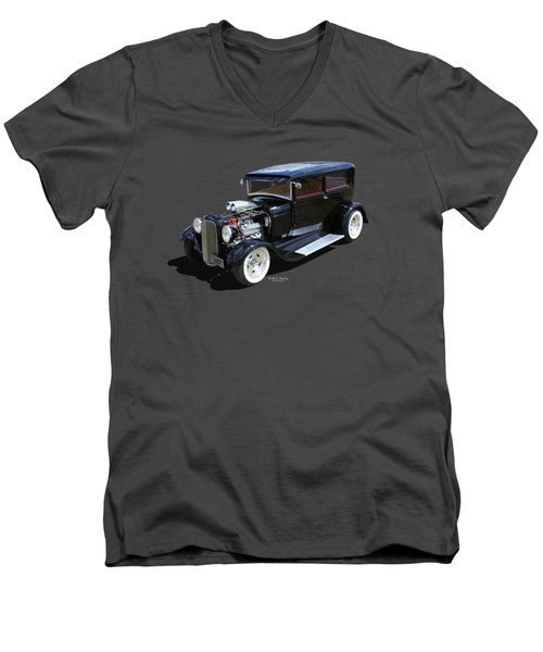 Black Tudor Men's V-Neck T-Shirt
