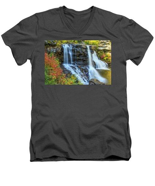 Black Water Falls #3 Men's V-Neck T-Shirt