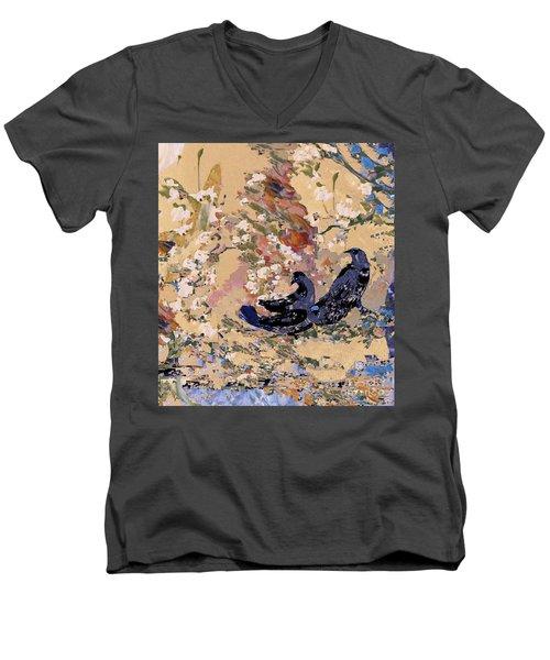 Black Wings Men's V-Neck T-Shirt