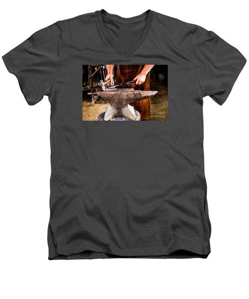 Blacksmith Men's V-Neck T-Shirt by M G Whittingham