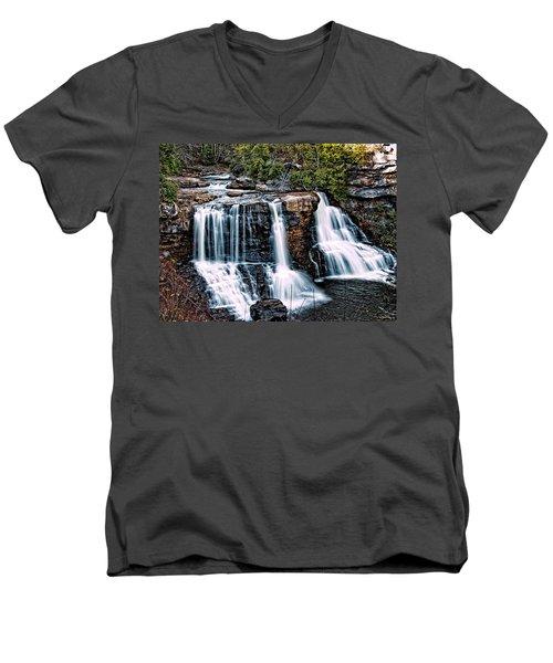 Blackwater Falls, West Virginia Men's V-Neck T-Shirt