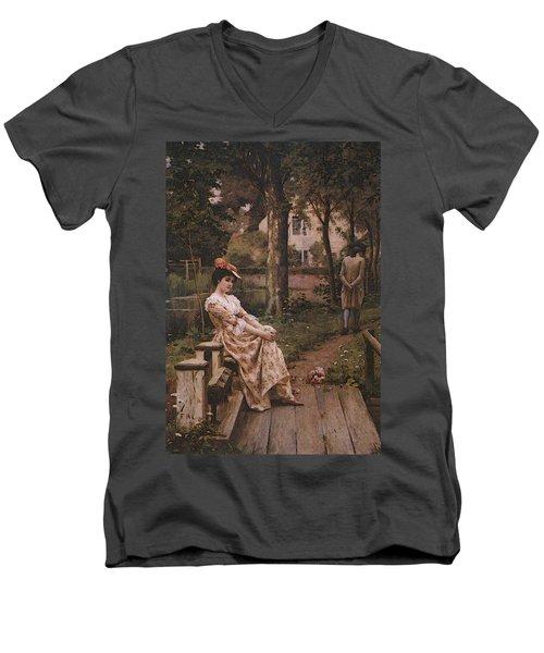 Blair Leighton Off Men's V-Neck T-Shirt