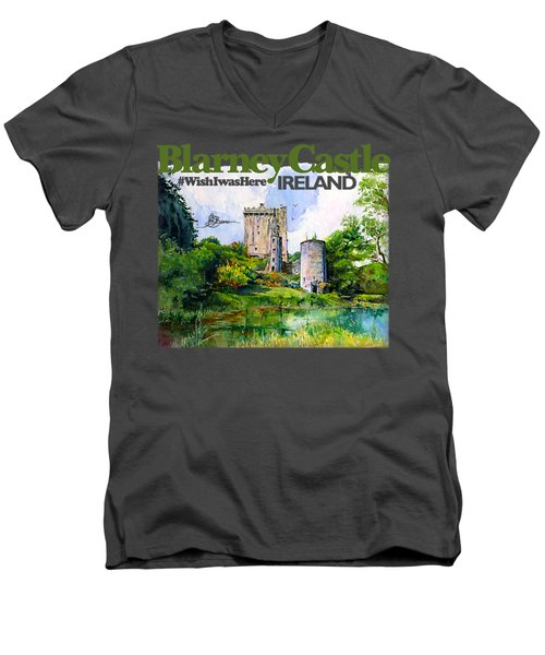 Blarney Castle Ireland Men's V-Neck T-Shirt