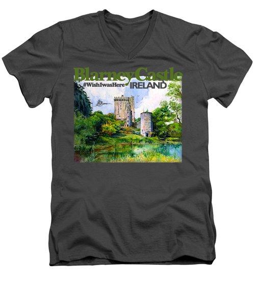 Blarney Castle Ireland Men's V-Neck T-Shirt