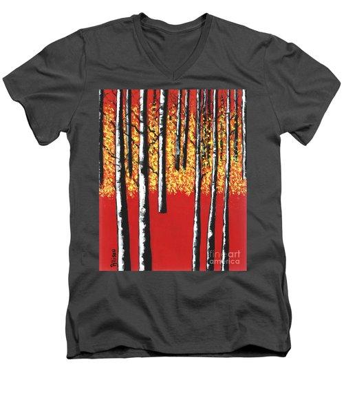 Blazing Birches Men's V-Neck T-Shirt