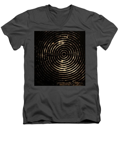 Men's V-Neck T-Shirt featuring the photograph Bleached Circles by Cynthia Powell