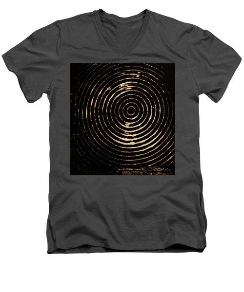 Bleached Circles Men's V-Neck T-Shirt