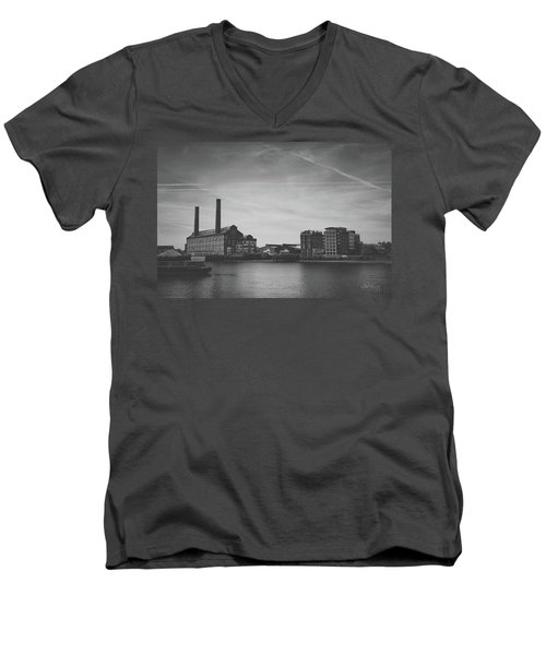 Bleak Industry Men's V-Neck T-Shirt by Joseph Westrupp